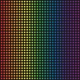Fond pointillé par arc-en-ciel de vecteur Image stock