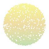 Fond pointillé par cercle abstrait Illustration de vecteur Image stock