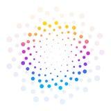 Fond pointillé par cercle coloré abstrait Illustration de vecteur Images stock
