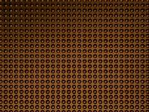 Fond pointillé par 3d abstrait de bronze image tramée 3d Photo stock