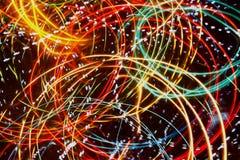 Fond pointu et unfocused de lumières, abstrait Images libres de droits