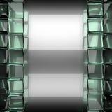 Fond poli en métal avec le verre illustration de vecteur