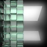 Fond poli en métal avec le verre Image stock