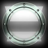 Fond poli en métal avec le verre 3D rendu Images libres de droits