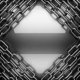 Fond poli en métal 3D rendu Photo libre de droits