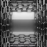 Fond poli en métal 3D rendu Photos stock