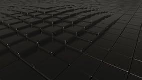 Fond poli noir abstrait de barres, rendu 3D Image libre de droits