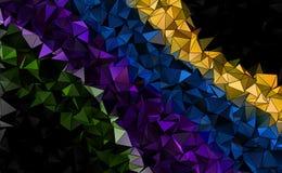 Fond polygonal abstrait Photos libres de droits