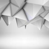 Fond polygonal abstrait blanc Images stock