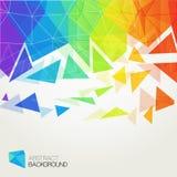 Fond polygonal abstrait d'arc-en-ciel Photo stock