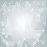 Fond polygonal abstrait de Noël Image stock