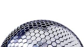 Fond polygonal abstrait de sphère Photographie stock
