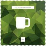 Fond polygonal abstrait de thé vert de vecteur Images libres de droits