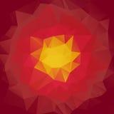 Fond polygonal abstrait Fleur cramoisie de mosaïque Illustration Libre de Droits