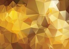Fond polygonal abstrait jaune foncé Images libres de droits