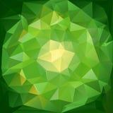 Fond polygonal abstrait Papier peint vert de mosaïque Illustration de Vecteur