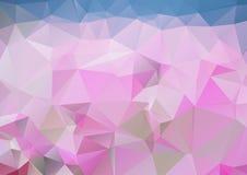 Fond polygonal abstrait pourpre Photographie stock libre de droits