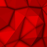 Fond polygonal abstrait rouge Photos libres de droits