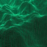 Fond polygonal abstrait vert Image libre de droits