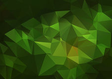 Fond polygonal abstrait vert-foncé Photos libres de droits