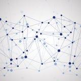 Fond polygonal avec la connexion moléculaire abstraite Image libre de droits