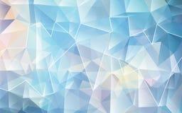 Fond polygonal blanc bleu de mosaïque Illustration de vecteur Conception créatrice Images libres de droits