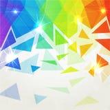 Fond polygonal brillant abstrait d'arc-en-ciel Photo libre de droits