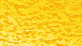 Fond polygonal cristallisé par orange abstraite Mouvement de vague de la surface polygonale avec les lignes blanches Photos stock