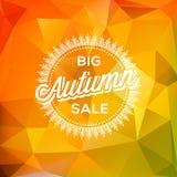 Fond polygonal d'affiche d'Autumn Sale Photo libre de droits