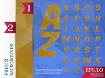 Fond polygonal d'alphabet de Crystal Font géométrique Image stock