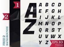 Fond polygonal d'alphabet de Crystal Font géométrique Images libres de droits