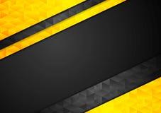 Fond polygonal d'entreprise noir orange de contraste illustration libre de droits