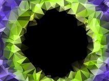 Fond polygonal de cadre de triangle avec l'endroit pour le texte Image stock