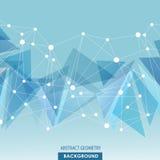 Fond polygonal de connexion moléculaire Images libres de droits