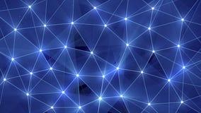 Fond polygonal de lueur bleue Image libre de droits