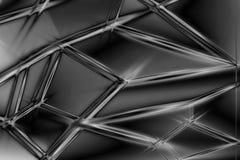 Fond polygonal de technologie de concept noir et blanc de résumé illustration libre de droits
