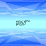 Fond polygonal géométrique bleu abstrait avec l'espace de copie Photographie stock
