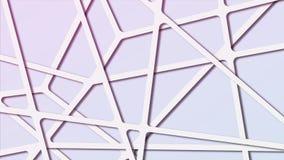 Fond polygonal moléculaire d'abrégé sur coloré gradient avec les canalisations de raccordement images stock
