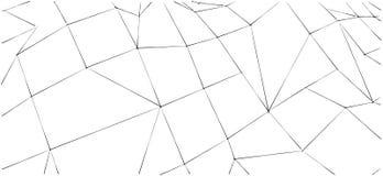 Fond polygonal noir et blanc abstrait Conception pour la brochure Images libres de droits