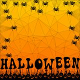 Fond polygonal orange de mosaïque de Halloween de vecteur illustration stock
