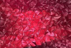 Fond polygonal triangulé de résumé Image libre de droits