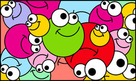 Fond positif de boules Illustration Stock