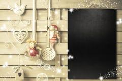 Fond pour écrire le menu de Noël Photos stock