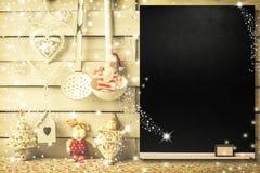 Fond pour écrire le menu de Noël Image stock