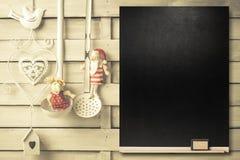Fond pour écrire le menu de Noël Photos libres de droits