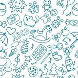 Fond pour de petits garçons et filles Drawin tiré par la main d'enfants Image stock
