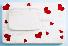 Fond pour des déclarations de l'amour la Saint-Valentin Photo libre de droits