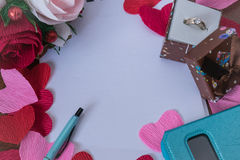 Fond pour des notes d'amour Photos libres de droits