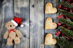 Fond pour la carte de voeux de Noël Images libres de droits