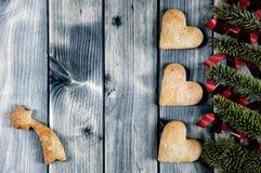 Fond pour la carte de voeux de Noël Photo stock